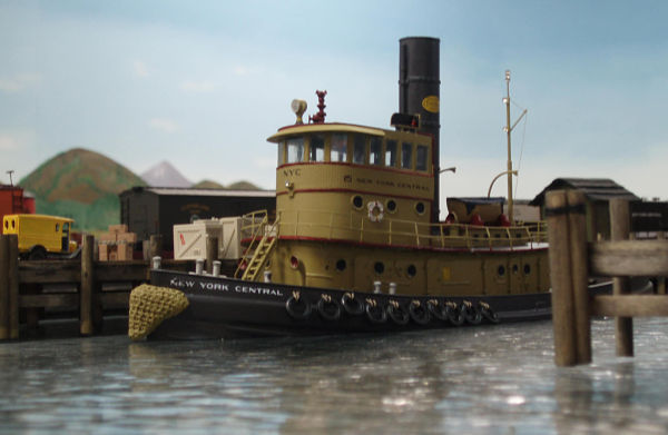 #212 HO (1/87) Scale 92' Steam Railroad Tugboat
