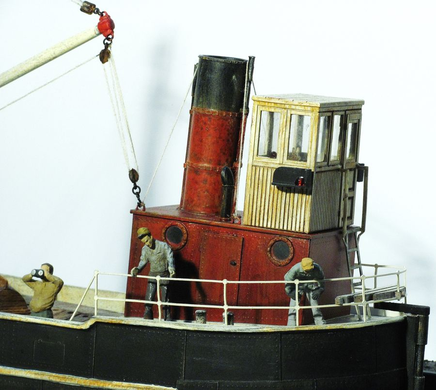 O/On30 1:48 Scale 50' Steam Freighter Kit