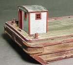 HO 1:87 Scale Small Wooden Captain's Cabin
