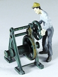 O Scale Hand Winch with Winlass Heads