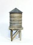 HO 1:87 Scale Wooden Roof Top Water Tank