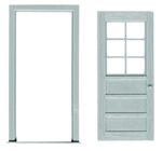 O Scale 6 Lite Door/Frame