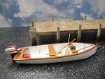 O 1:48 Scale 17' Utility Boat Kit Waterline Hull