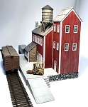 HO 1:87 Scale Poseidon Canning Company Complex with Concrete Foundation, Set of 7 kits