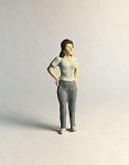 O Scale Standing Young Woman
