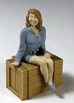 O Scale Sitting Young Woman