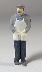 O Scale Old Man with Apron