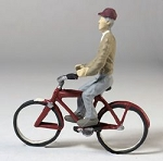 O Scale Man to Ride Bicycle