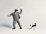 O Scale Postman with Dog