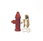 O Scale Dog with Hydrant