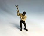 O Scale Man Swinging Sledge Hammer