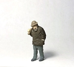 O Scale Hobo Walking With Sack
