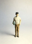 O Scale Standing Man with Bottle