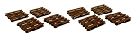 O Scale Pallets set of 8