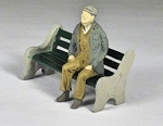 O Scale Sitting Man