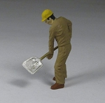O Scale Man With Shovel