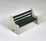 O Scale Park Bench