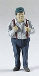 O Scale Standing Man W/ Suspenders