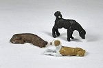 O Scale Dogs (Set of 3)