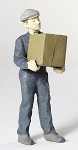 O Scale Man Carrying Box