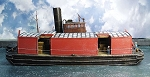 HO 1:87 Scale Covered Wooden Barge