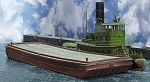 Multi Scale Wooden Deck Scow