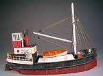 S 1:64 Scale 50' Steam Freighter Kit, Waterline Hull