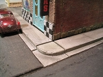 HO 1:87 Scale Small Town Sidewalk