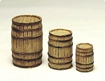 HO 1:87 Scale Wooden Barrels