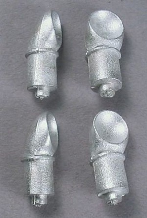 HO 1:87 Scale Short Funnels (Cowl Ventilators)