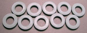 O 1:48 Scale Tire Bumpers set of 10