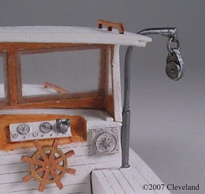 O 1:48 Scale Davit & Pulley