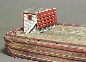 HO 1:87 Scale Small Wooden Bulkhead