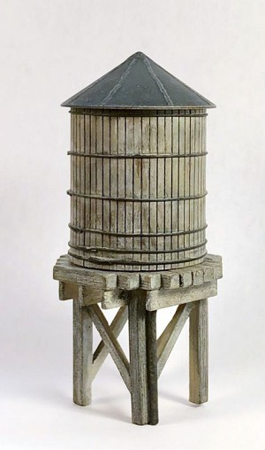 O/On30 1:48 Scale Wooden Roof Top Water Tank