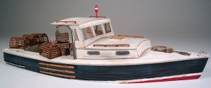 O 1:48 Scale 34' Lobster Boat Kit, Waterline Hull