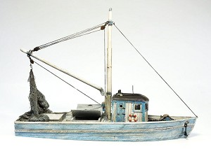 HO 1:87 Scale 56' Fishing Boat Kit, Waterline Hull