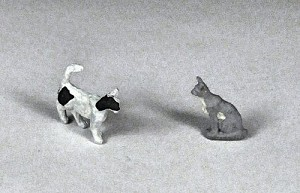 O Scale Cats (Set of 2)