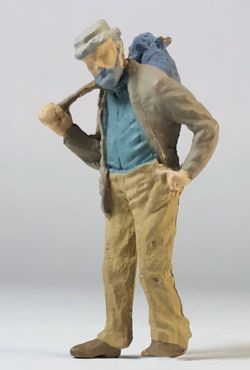O Scale Hobo Walking