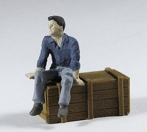 O Scale Sitting Young Man