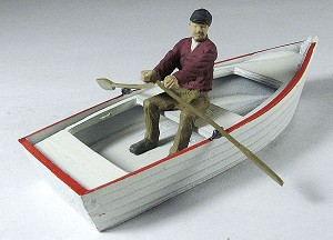 O Scale Rowboat with oars