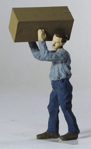 O Scale Worker Carrying Box
