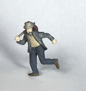 O Scale Hobo Running