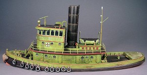 HO 1:87 Scale 92' Steam Railroad Tug Boat Kit
